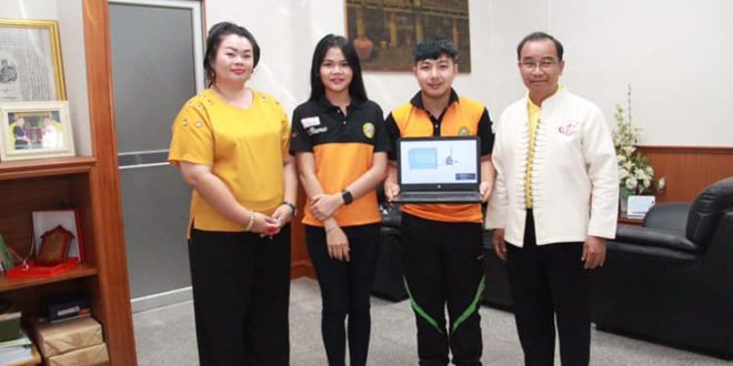 อธิการบดี ให้กำลังใจนักศึกษาสาขาเทคโนโลยีพลังงาน ร่วมการแข่งขันนวัตกรรมสายอุดมศึกษา ปี 2562 ณ ประเทศมาเลเซีย
